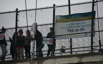 PHOTO: Berkeley Overpass Rally. Photo credit: Fred Glass