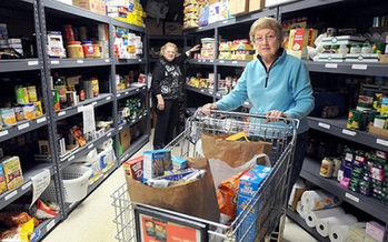 PHOTO: Food shelf use in North Dakota is up 6.5% this year. Courtesy Hunger Solutions Minnesota.