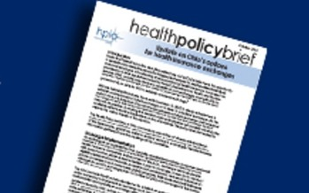 IMAGE: The Health Policy Institute of Ohio's recent policy brief on Ohio's options for insurance exchanges.