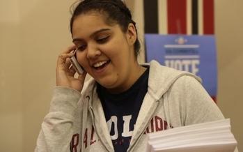 Photo: Volunteer calls Florida voters. Courtesy: Barack Obama Campaign