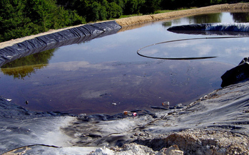 PHOTO: This fracking waste pit is located in Wise County, Texas. Photo credit: Sharon Wilson.