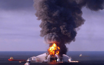 Photo: Deepwater Horizon explosion. Courtesy: NWF