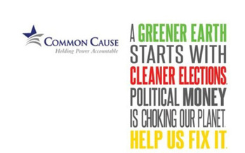 Common Cause poster about clean elections<br />Credit: Common Cause.<br />