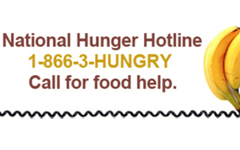 The National Hunger Hotline connects people to food pantries and other programs.   Courtesy of USDA
