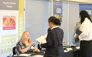 PHOTO: Thirty companies and 200 young people participated in Focus Hope's 2012 job fair in Detroit. Courtesy: Focus Hope