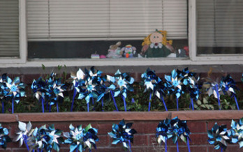 PHOTO: A federal report finds cases of child maltreatment in Idaho are trending downward. Blue and silver pinwheels are used in the