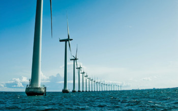Wind turbines off Denmark's coast. Photo courtesy NWF