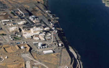 PHOTO: The Hanford Site in Richland, Wash., is a former plutonium manufacturing facility that is now one of the nation's largest superfund cleanup sites. Courtesy Oregon Dept. of Energy (which also has input into Hanford's effects on the Columbia River).