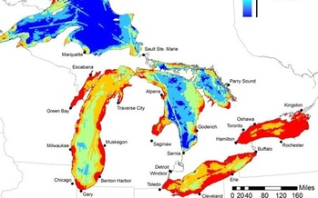 IMAGE: A new mapping project shows stressed areas of Great Lakes Region.