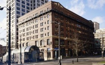 PHOTO: The Morrison was renovated in 2005 as studio apartments. It is the largest emergency shelter in the Seattle area, with on-site addiction and mental health services. Courtesy of Downtown Emergency Service Center.