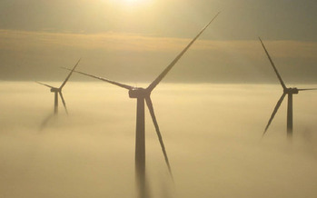 Missouri's first utility-scale windfarm at King City             Photo credit: John Deere Wind Energy