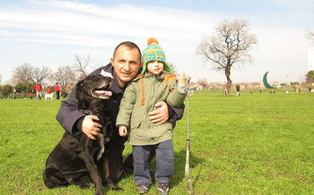 PHOTO: A family-style New Year's resolution: Spend some time outdoors every day. Walking the dog is a great option. Photo from Wikipedia, courtesy Alessandro Zangrilli.