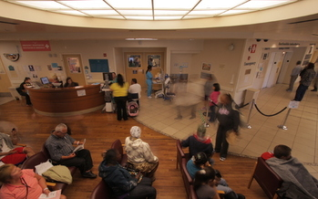 PHOTO: The waiting room at Highland Hospital in Oakland, Calif., featured in the film