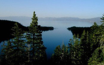 PHOTO: Emerald Bay, on the west side of Lake Tahoe, is just one of the scenic places caught in the debate between further development and preserving local air and water quality. Photo by Kurt B. Teuber for America's Byways.