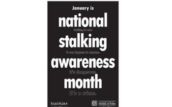GRAPHIC: The Custer Network Against Domestic Abuse and Sexual Assault is spreading the word about National Stalking Awareness Month.