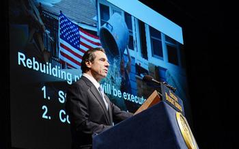 PHOTO: Gov. Andrew Cuomo unveiling the 2013-2014 Executive Budget. Courtesy of Governor Andrew Cuomo