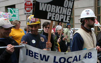 PHOTO: Oregon's union movement has broadened its aims to include more social justice issues and encompass nonunion workers as well. Courtesy Oregon AFL-CIO.