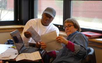 PHOTO: One at a time, almost 30,000 income tax returns were prepared in Arkansas by AARP Foundation Tax-Aide volunteers. Courtesy of AARP.
