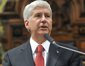 PHOTO: Michigan Gov. Rick Snyder By the Office of the Governor.