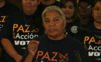 PHOTO: Promise Arizona Director Petra Falcon hopes inflammatory language can be avoided in the Congressional debate over immigration reform. CREDIT: Doug Ramsey
