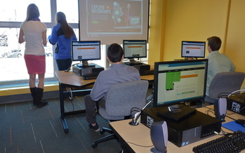Job creation was an emphasis of President Obama's State of the Union address. In Maine, students are being urged in a new program to pursue available - and proliferating - jobs in computers and technology. Photo courtesy Project>Login