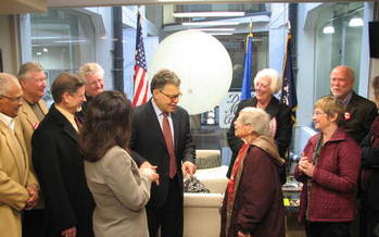 PHOTO: Sen. Al Franken visited with AARP Minnesota staff and volunteers this week to hear their concerns about the future of Social Security and Medicare. Courtesy of AARP Minnesota.