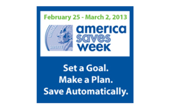 GRAPHIC:  Logo of America Saves Week.<br />Courtesy: AmericaSaves.org<br />