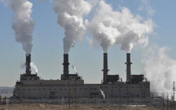 The San Juan Generating Station is a 40-year-old, 1,800-megawatt coal-fired power plant near Farmington, New Mexico.<br />PHOTO: Courtesy of San Juan Citizens Alliance<br />