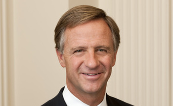 PHOTO: Governor Bill Haslam plans to make his recommendation by the end of the month on whether Tennessee should expand its Medicaid program. New research says the expansion would lead to 22,000 jobs created, another 180,000 with heath coverage and nearly $600-million in new tax revenue. CREDIT: Public Domain