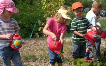 PHOTO: Preschoolers at the Tiny Tim Center in Longmont will learn about gardening this summer during day camp. Courtesy: The Tiny Tim Center.