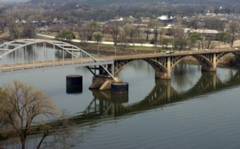 PHOTO: Arkansas river looking across to Little Rock.  Image credit: Belinda Hankins Miller