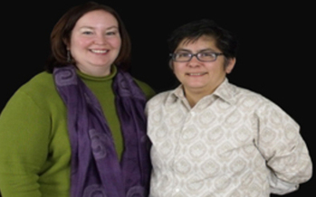 PHOTO: Kim Kiel (L) and partner Rose Griego say they're willing to wait for marriage equality in New Mexico. Courtesy of ACLU New Mexico.<br />