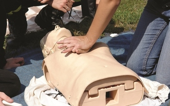 PHOTO: North Dakota lawmakers are considering a bill to fund CPR training for high school students. Bystander CPR can double or even triple survival chances for cardiac arrest victims. Courtesy American Heart Assn.