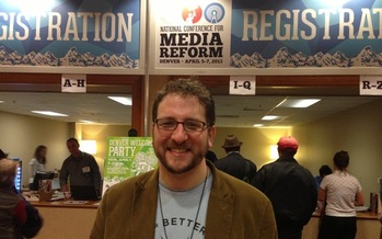 PHOTO: Internet freedom was a hot-button topic at the National Conference for Media Reform in Denver, hosted by Craig Aaron and his organization, Free Press. Courtesy Mark Scheerer