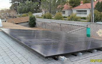 PHOTO: Solar panels installed in Las Vegas. Credit: Jane Feldman