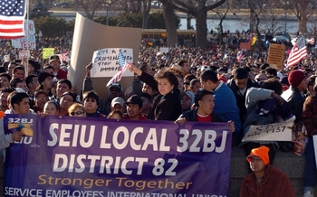 Photo: Tens of thousands of immigration reform advocates will rally in Washington, D.C., this week. Photo courtesy: 32BJ SEIU
