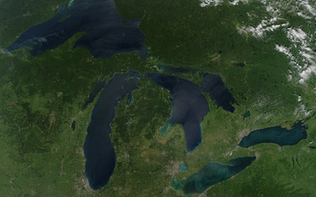 PHOTO: The White House has proposed $300 million for the Great Lakes Restoration Initiative, for a wide range of restoration, cleanup and protection projects. CREDIT: NASA Goddard Space Flight Center