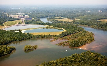 Photo: Coal ash ponds at the Riverbend site. Courtesy: Jeff Cravotta