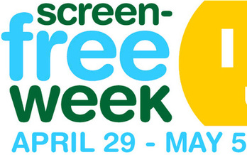 GRAPHIC: Children � and adults � are urged to resist the tantalizing images on entertainment screens for one week, starting April 29th. Courtesy CCFC.