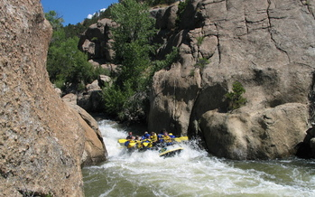 Photo: Rafting on Arkansas River in Browns Canyon. Courtesy: www.raftthebest.com