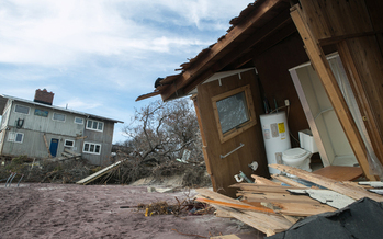 Parts of Fire Island which were heavily damaged by Hurricane Sandy seven months ago will have copper telephone lines replaced by a wireless phone service offered by Verizon. Consumer advocates say it�s unfair to make victims of natural disasters unwilling �beta testers� for new technology. Photo credit: Christopher Ragazzo/FEMA<br />