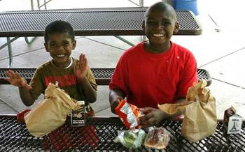PHOTO: The Food Research and Action Center says Arkansas increased the number of kids in free summer meal programs by more than 16 percent last year. Photo courtesy Operation Food Search.