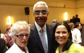 PHOTO: Pictured, left to right: AARP-Connecticut State President Laura Green; AARP CEO Barry Rand; and AARP-Connecticut State Director Nora Duncan. Courtesy AARP-CT.