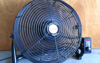 PHOTO: The HEAP Summer Crisis Program begins today in Ohio, helping qualified, low-income residents secure cooling assistance during the hottest days of the year. Picture of a fan. Photo credit. Mary Kuhlman