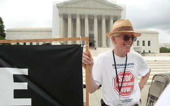 PHOTO: Activists are fasting at the U.S. Supreme Court this week to protest the death penalty. Jack Payden-Travers of Lynchburg is among them. Photo credit: Scott Langley