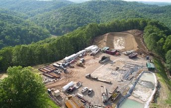 Critics of the practice say Marcellus drilling represents an industrial scale activity suddenly built up in rural areas that are not really ready for it. PHOTO by the WV Sierra Club.