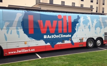 Photo: The National Climate Change Bus Tour makes its way through North Carolina. Courtesy: Keven Kennedy