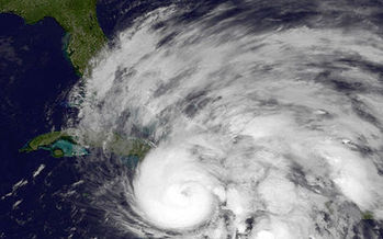 PHOTO: Superstorm Sandy was the second most expensive in U.S. history, and many meteorologists are convinced it was made worse by a changing climate. Photo credit: NOAA.