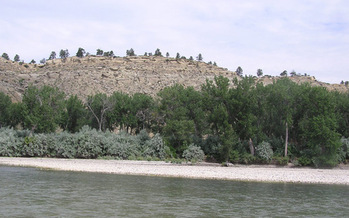 PHOTO: The Yellowstone River oil spill is not yet a distant memory, but oil from a pipeline isn�t the only contaminant Montanans should be concerned about. A new report points to discharges from the coal ash pond at the Corette plant. Photo credit: MT.gov.
