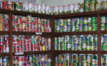 Photo: Food available at one of the Loaves & Fishes pantries. Courtesy: Loaves & Fishes